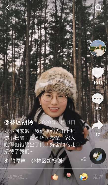 """95后女孩""""隐居""""小兴安岭采蘑菇,网友:把日子过成了诗"""